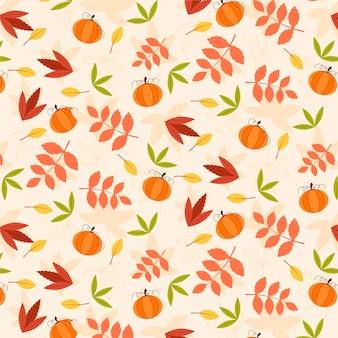 Płaski wzór jesienny