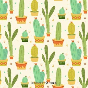 Płaski wzór kaktusa