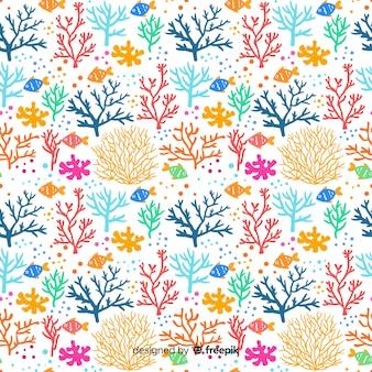 Płaski wzór korala