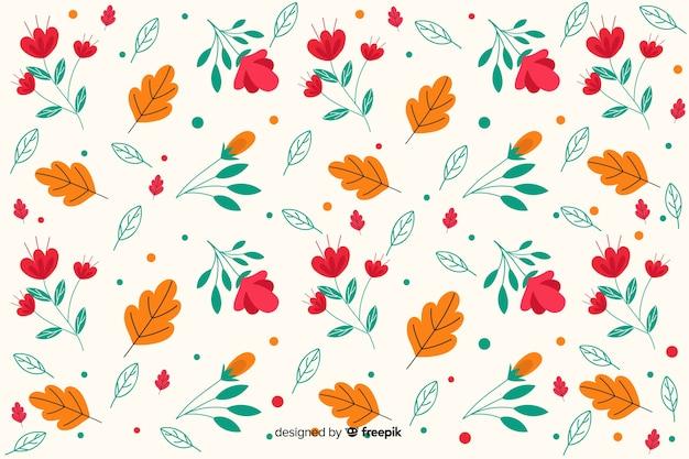 Płaski wzór kwiatowy wzór tła