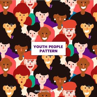 Płaski wzór młodzieży