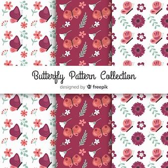 Płaski wzór motyla