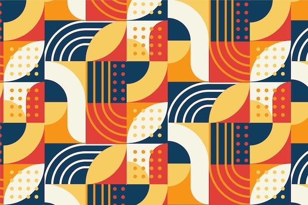Płaski wzór mozaiki z liniami