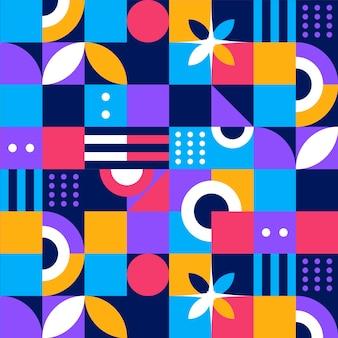 Płaski Wzór Mozaiki Darmowych Wektorów