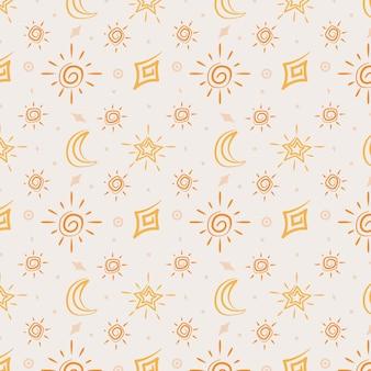 Płaski wzór słońca