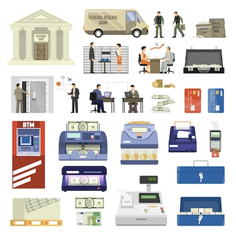 Płaski zestaw bankowy