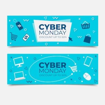 Płaski zestaw cyber poniedziałek