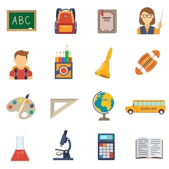 Płaski zestaw edukacji