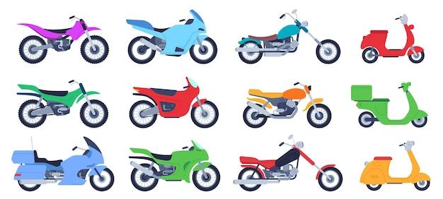 Płaski zestaw motocyklowy
