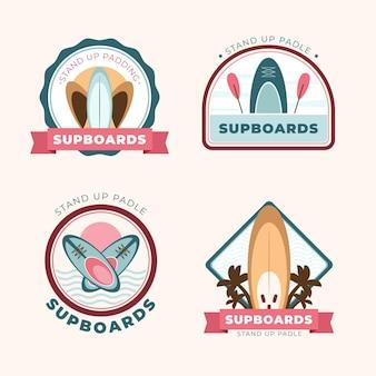 Płaski zestaw odznak sup