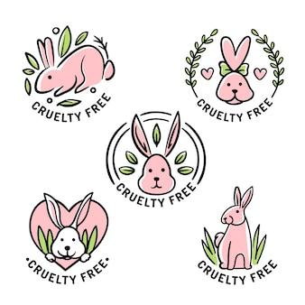 Płaski zestaw odznaki cruelty free