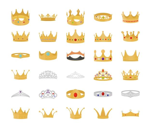 Płaski zestaw royal crown