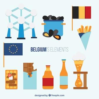Płaskich elementów belgijscy