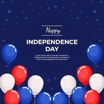 Płaskie 4 lipca dzień niepodległości ilustracja