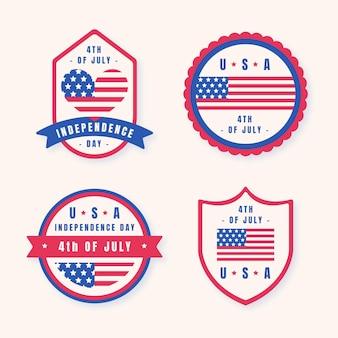Płaskie 4 lipca - kolekcja etykiet na dzień niepodległości