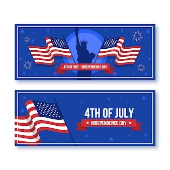 Płaskie 4 lipca - zestaw banerów dzień niepodległości