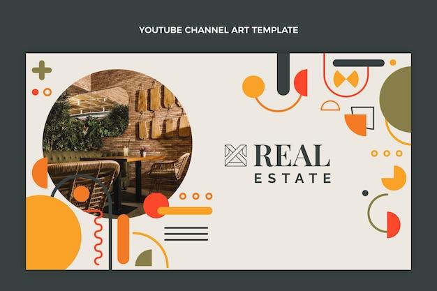 Płaskie abstrakcyjne geometryczne nieruchomości kanał youtube