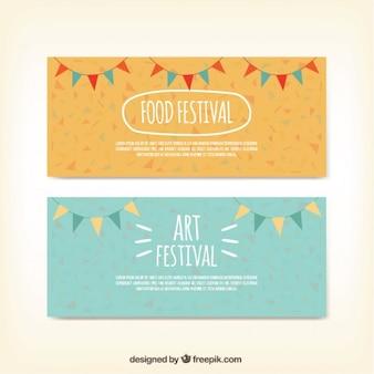 Płaskie banery dla zróżnicowanych festiwali