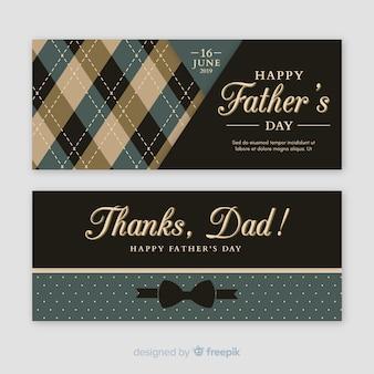 Płaskie banery dzień ojców
