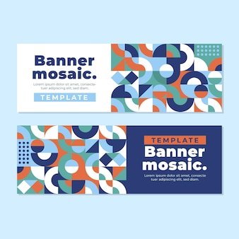 Płaskie banery mozaikowe