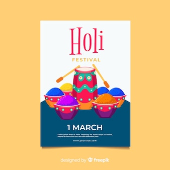 Płaskie bębna plakat festiwalu holi