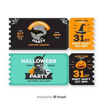 Płaskie bilety na halloween na 31 października