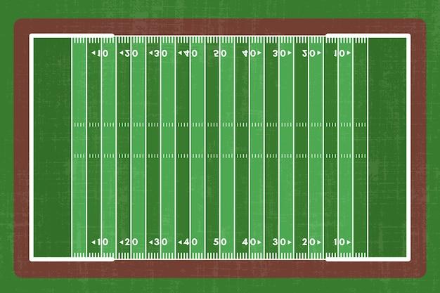 Płaskie boisko do futbolu amerykańskiego