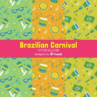Płaskie brazylijskie wzory karnawałowe