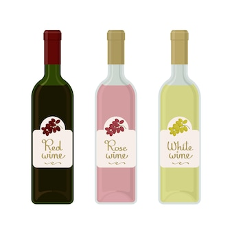 Płaskie butelki wina
