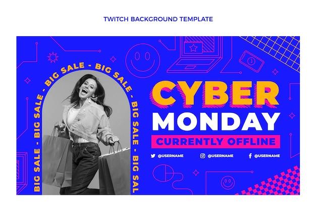 Płaskie cyber poniedziałek drgać w tle
