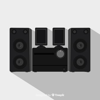 Płaskie czarne tło głośnika