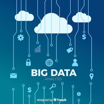 Płaskie duże tło danych