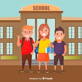 Płaskie dzieci wracają do szkoły