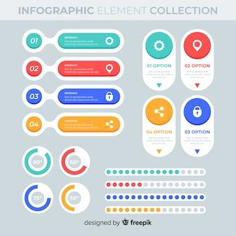 Płaskie elementy infographic