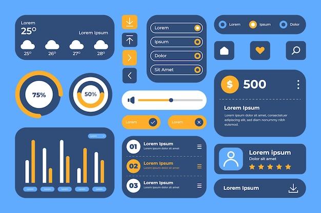 Płaskie elementy interfejsu użytkownika/ux