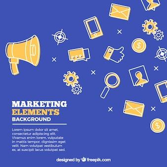 Płaskie elementy marketingu tło