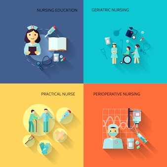 Płaskie elementy pielęgniarki