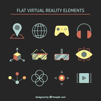 Płaskie elementy wirtualnej rzeczywistości