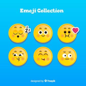 Płaskie emotikony collectio reakcji