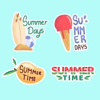 Płaskie etykiety letnie