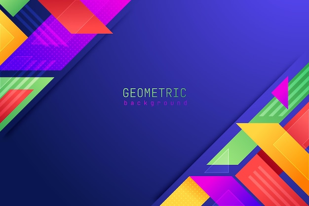 Płaskie geometryczne tło
