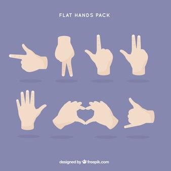 Płaskie gestów