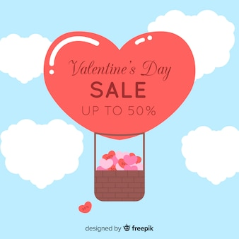 Płaskie gorącym powietrzem balon valentine sprzedaż