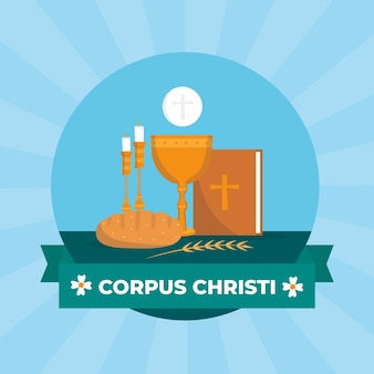 Płaskie ilustracja corpus christi
