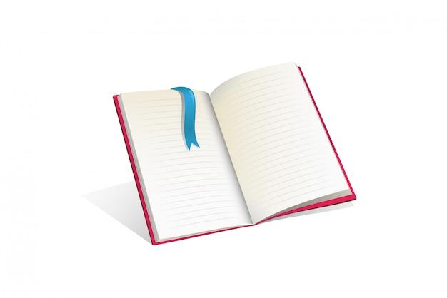 Płaskie ilustracja otwartej książki