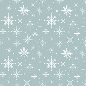 Płaskie ilustracji wektorowych. zestaw nowy rok i boże narodzenie błyszczące płatki śniegu. dekoracja tła. wzór.