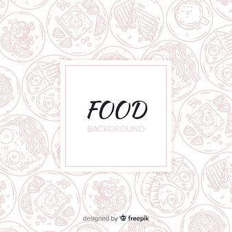 Płaskie jedzenie tło