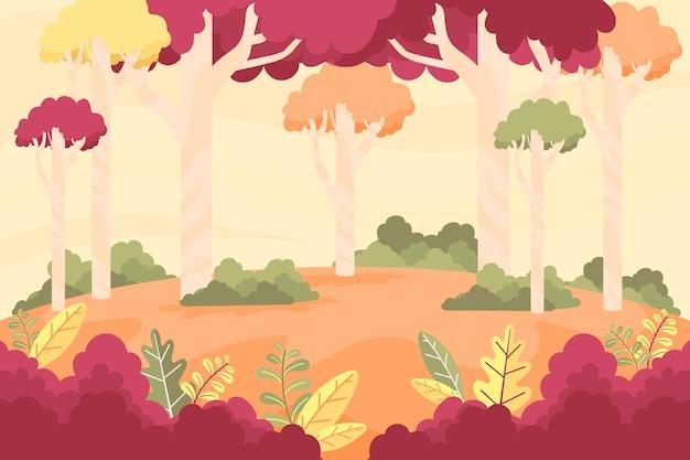 Płaskie jesień koncepcja tło