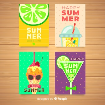 Płaskie karty letnie