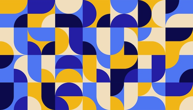 Płaskie kolorowe abstrakcyjne geometryczne kształty szablon tła